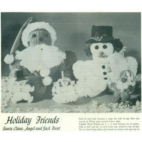 Yarn Doll Patterns Holiday Santa More