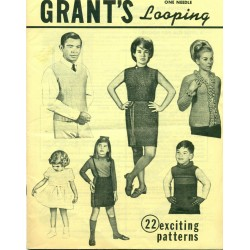 Vintage 1960s Grant's One Needle Looping Pattern Book