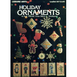 70s Xmas Ornaments Knit Crochet