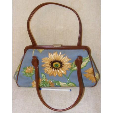 Vintage Isabelle Fiore Handbag - Beaded & Sequined Flowers