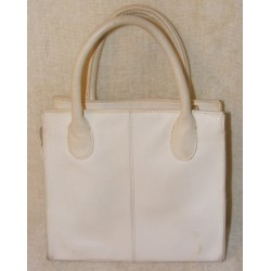 Vintage Giani Bernini Handbag - White Leather