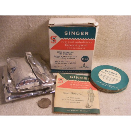 Vintage 1960s Singer Rug & Upholstery Shampoo w/ Box