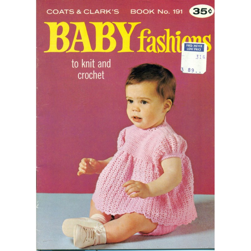 Vintage 1960s Baby Fashion Knitting Crochet Patterns Angel