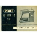 Vintage Pfaff No. 360 Automatic Sewing Machine Manual