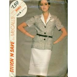 Vintage Shirt & Pencil Skirt Sewing Pattern