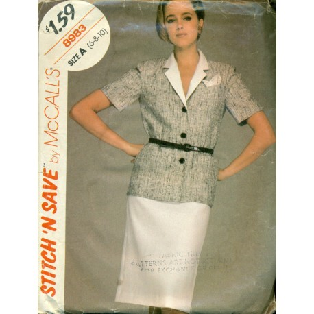 Vintage Shirt & Pencil Skirt Sewing Pattern