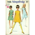 Vintage 1960s Girls Dress & Shorts - Simplicity No. 7456
