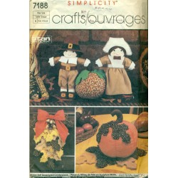 Vintage Home Deco for Thanksgiving Holiday - Simplicity No. 7188