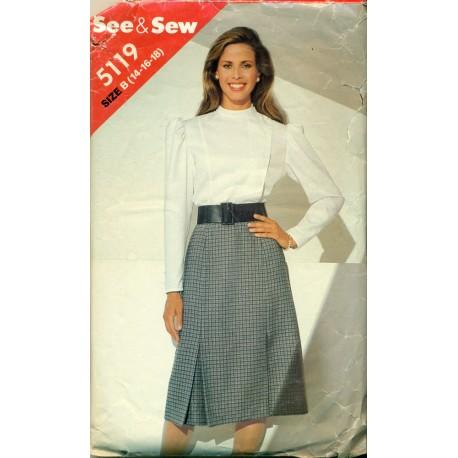 Butterick Skirt & Blouse Pattern A-line 80s