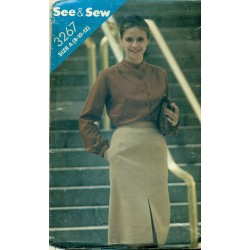 1980s Pencil Skirt Sewing Pattern - Butterick No. 3267 Medium