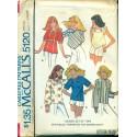Vtg McCalls Sewing Pattern No. 5120 - Womens Shirt Peasant