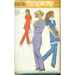 1970s Pants Suit Sewing Pattern Simplicity