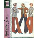 Vintage Womens Shirt Jacket & Pants Sewing Pattern - McCalls No. 4138