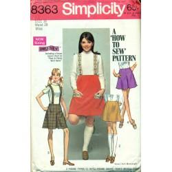 Skirt & Suspenders Sewing Pattern Simplicity