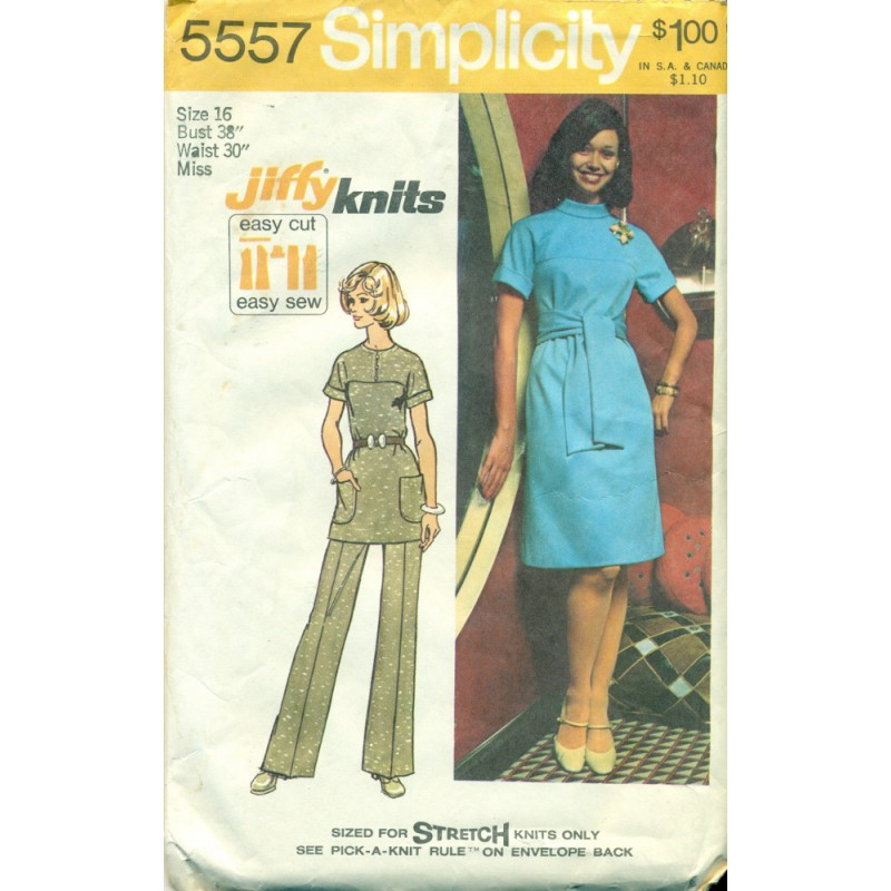 1970s Womens Dress Amp Pants Suit Sewing Pattern