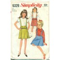 1960s Girls Skirt Suspenders & Shirt Pattern