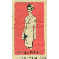 Vintage Womens Dress Sewing Pattern Half Size - Miriam Martin