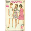 1960s Womens A-Line Day Dress - Simplicity No. 7627