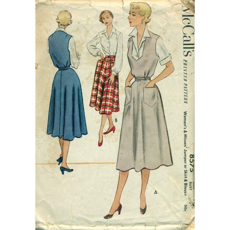 1950s Womens Skirt Dress Jumper & Blouse Pattern - McCalls ...