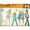 1970s Girls Skirt Pants Vest & Shirt Sewing Pattern - McCalls No. 2437