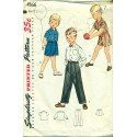 1950s Boys Shirt, Pants & Shorts Sewing Pattern - Simplicity No. 4166