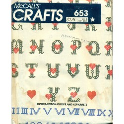 Iron-On Transfer Patterns McCalls No 653