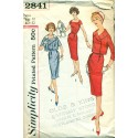 Vintage Womens Wiggle Dress w/ Jacket Sewing Pattern - Simplicity No. 2841