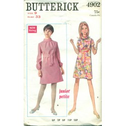 Vintage Butterick Sewing Pattern No. 4902 Teens Mod Dress