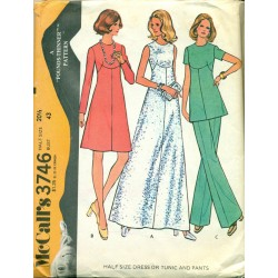 1970s Womens Dress Pants & Shirt Sewing Pattern - McCalls No. 3746 XL 1X
