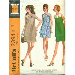Vintage Maternity Top & Skirt Sewing Pattern - McCalls No. 2394