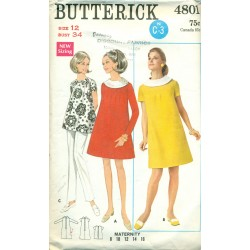 Vintage Maternity Dress & Shirt Sewing Pattern - Butterick No 4801