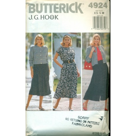 Skirt Culottes Shirt & Jacket Pattern