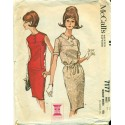 60s Dress Pattern Slim Fit - McCalls No. 7177