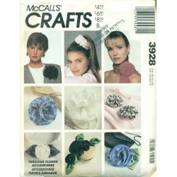 Retro Hair & Accessories Sewing Pattern - McCalls No. 3928