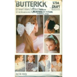 Retro Collars, Cuffs & Bows Sewing Pattern - Butterick No. 5754