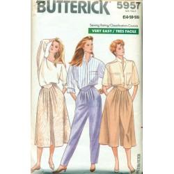 Retro Womens Pants Skirt & Culottes Sewing Pattern