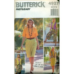 Skirt Culottes Shirt & Vest Sewing Pattern