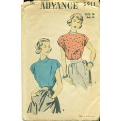 Womens Blouse / Shirt Sewing Pattern - Advance Medium