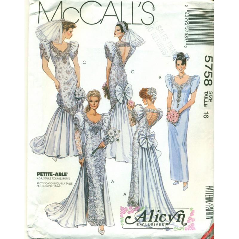 Alicyn Exclusives Bridal Dress Pattern - Large - Angel Elegance Vintage