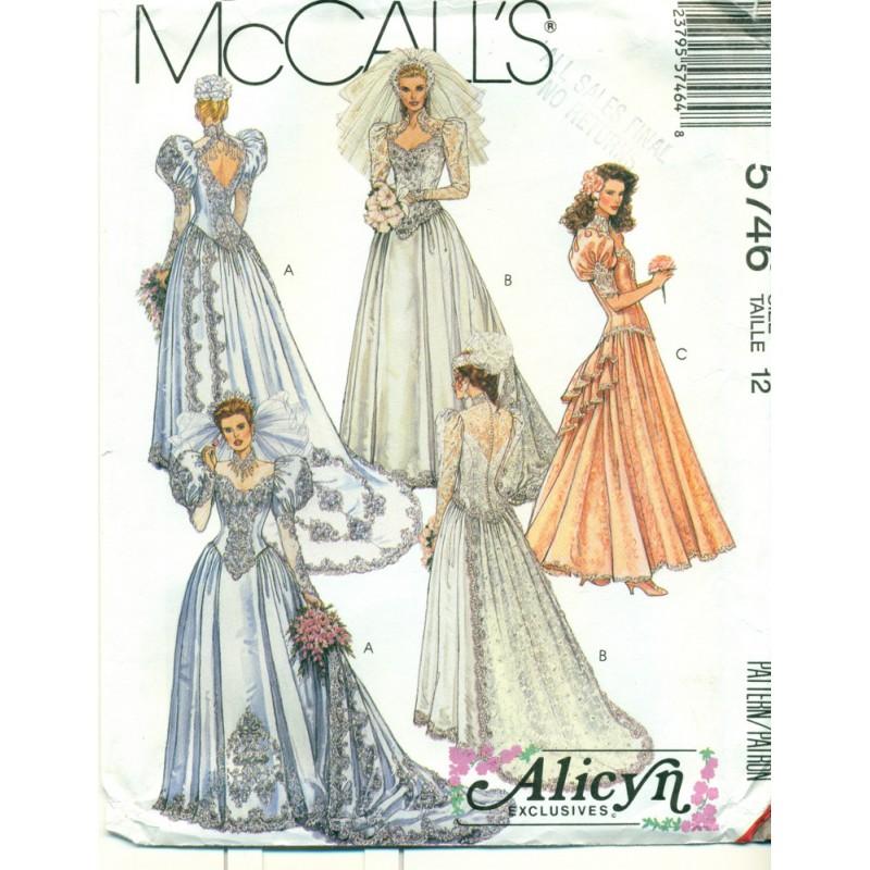 Bridal Dress Sewing Pattern Alicyn Exclusives - Angel Elegance Vintage