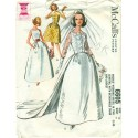Bridal Dress Pattern Vintage McCalls Sewing
