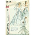 Bridal Dress Pattern Vintage Simplicity - XS