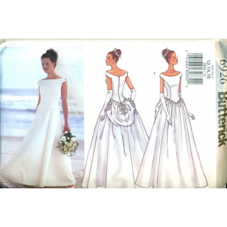 Wedding dress sewing pattern butterick angel elegance for Butterick wedding dress patterns