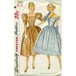 Womens Party Dress Dress Pattern - 1950s Simplicity