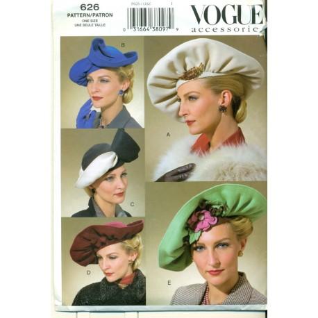 Vogue Hats Sewing Pattern - Vintage Inspired - Angel Elegance Vintage