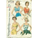 Womens Summer Shirt Pattern - Simplicity 1950s