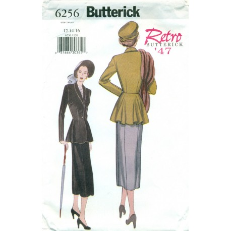 Womens Suit Skirt & Jacket Pattern - Retro Butterick 1940s