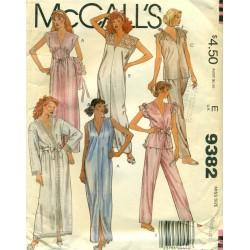 Robe, Nightgown & Pajamas Sewing Pattern