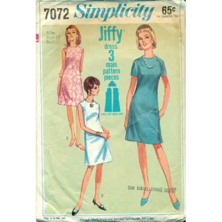 Easy Dress Sewing Pattern Simplicity