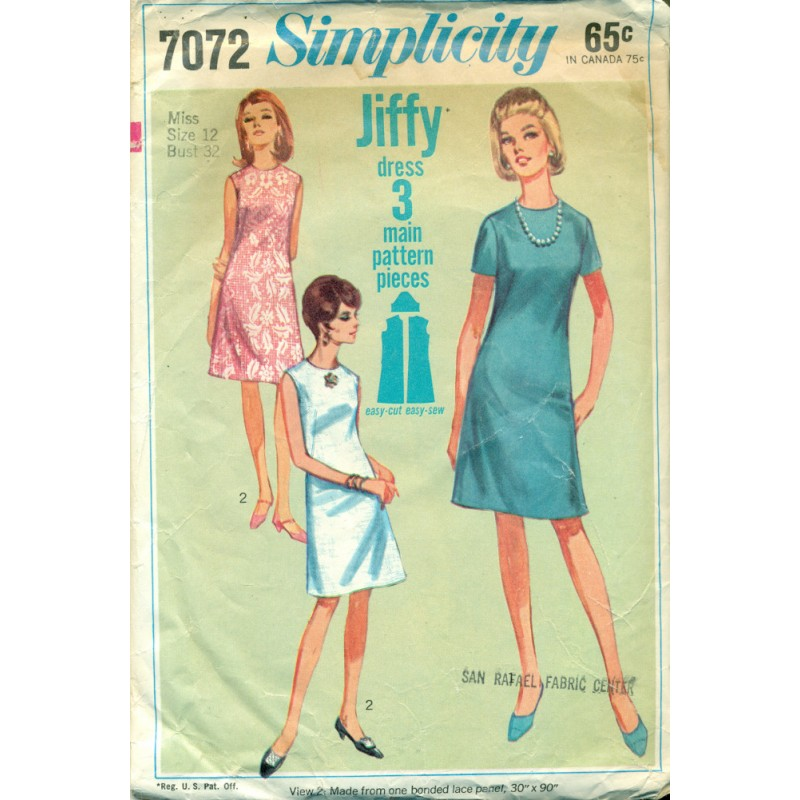 Easy Dress Sewing Pattern Simplicity - Angel Elegance Vintage